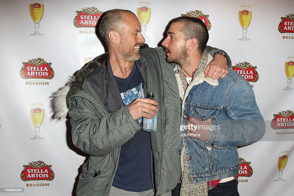 Director Fredrik Bond and actor Shia LaBeouf attend the Stella Artois hosted Press Junket for The Necessary Death of Charlie Countryman on January 22, 2013 in Park City, Utah.