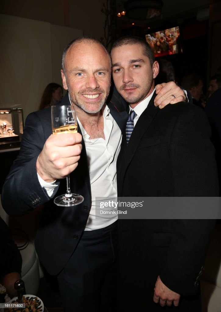Director Fredrik Bond (L) and actor Shia LeBeouf attend 'The Necessary Death Of Charlie Countryman' Reception during the 63rd Berlinale International Film Festival at the Glashuette Lounge on February 9, 2013 in Berlin, Germany.