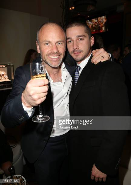 Director Fredrik Bond and actor Shia LeBeouf attend 'The Necessary Death Of Charlie Countryman' Reception during the 63rd Berlinale International...