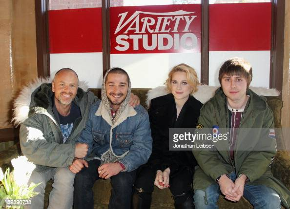 Director Fredrik Bond and actors Shia LaBeouf Evan Rachel Wood and James Buckley attend Day 4 of the Variety Studio at 2013 Sundance Film Festival on...