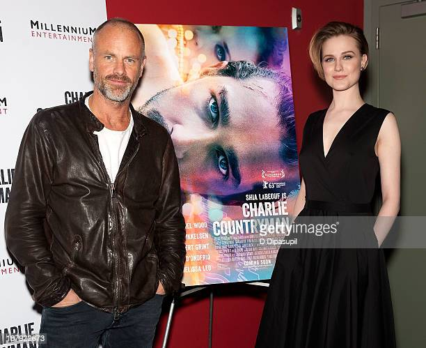 Director Fredrik Bond and Evan Rachel Wood attend the 'Charlie Countryman' screening at Sunshine Landmark on November 13 2013 in New York City