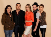 Director Gaby Dellal actors Jeremy Piven Mira Sorvino Thomas Dekker and Kate Walsh visit the Tribeca Film Festival 2011 portrait studio on April 23...