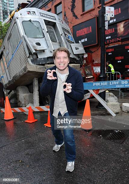 Director Gareth Edwards attends the Canadian Premiere of 'Godzilla' on May 15 2014 in Toronto Canada