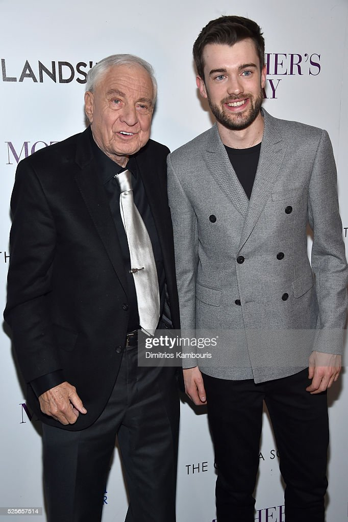 Director Garry Marshall (L) and comedian Jack Whitehall attends The Cinema Society with Lands' End screening of Open Road Films' 'Mother's Day' at Metrograph on April 28, 2016 in New York City.