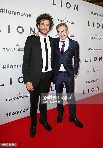 Director Garth Davis and David Wenham arrive ahead of the Australian premiere of LION at State Theatre on December 19 2016 in Sydney Australia