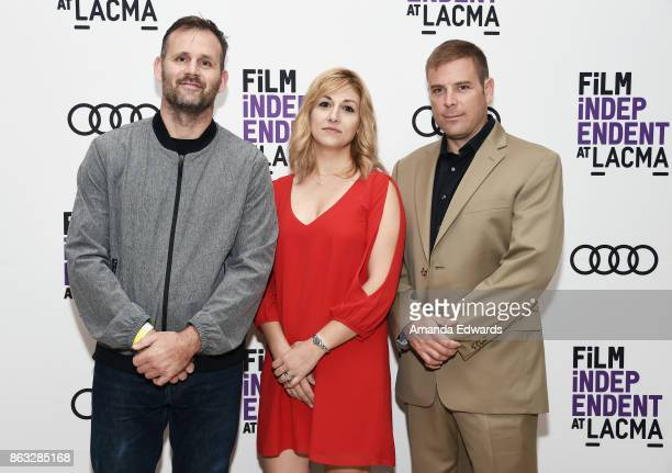 Director Garth Donovan and documentary subjects Gina Erdmann and Tom Erdmann attend the Film Independent at LACMA Special Screening of '11/8/16' at...