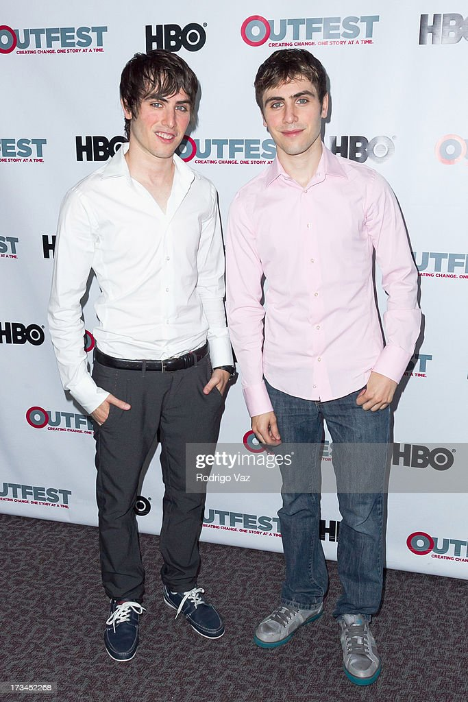 Director Gary Entin and writer Edmund Entin arrive at the 2013 Outfest Film Festival - 'Geography Club' screening at Directors Guild Of America on July 14, 2013 in Los Angeles, California.