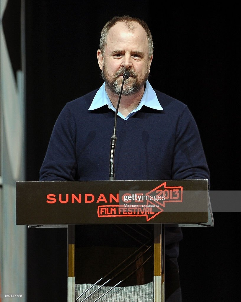 Director Gary Hustwit speaks onstage at the Awards Night Ceremony during the 2013 Sundance Film Festival at Basin Recreation Field House on January 26, 2013 in Park City, Utah.