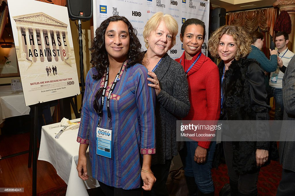 Director Geeta Gandbhir and guest attend the HBO & HRC Wedding Reception For The Case Against 8 on January 18, 2014 in Park City, Utah.
