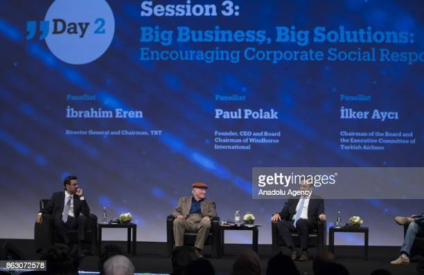 Director General and Chairman of TRT Ibrahim Eren Founder CEO and Board Chairman of Windhorse International Paul Polak and Chairman of the Board and...
