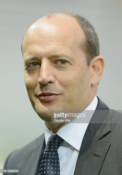 Director General AS Roma Mauro Baldissoni attends the Serie A match between Parma FC and AS Roma at Stadio Ennio Tardini on September 16 2013 in...