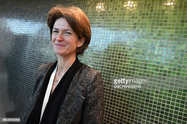Director General French multinational electric utility company Engie Isabelle Kocher attends the One Planet Summit on December 12 2017 at La Seine...