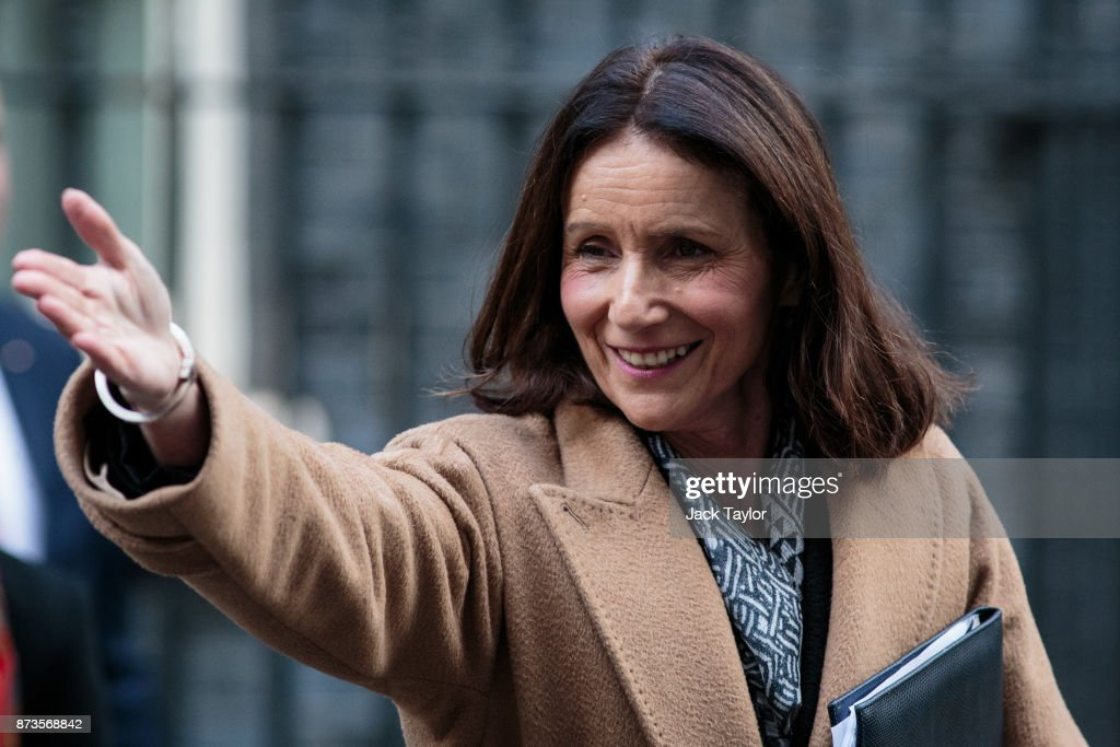 Director general of the CBI Carolyn Fairbairn leaves number Number 10 Downing Street on November 13, 2017 in London, England. British Prime Minister Theresa May held a meeting with European business leaders today over their concerns about the future of UK-EU trade arrangements after Brexit.