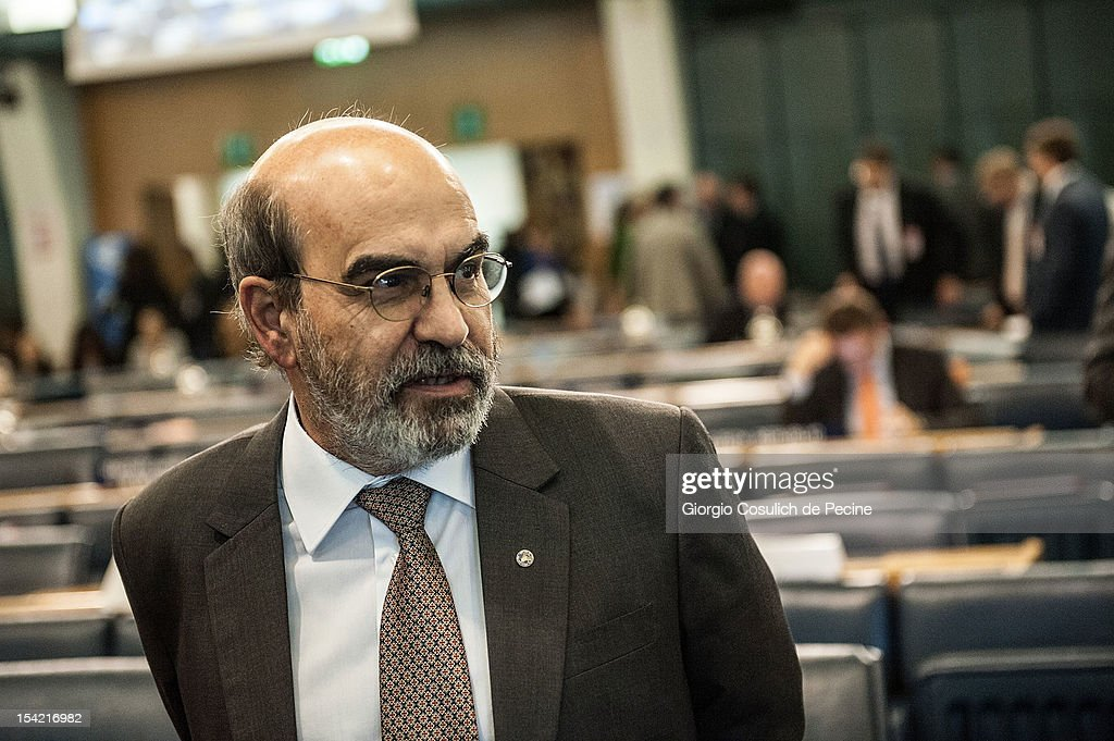 Director General of the Food and Agriculture Organization (FAO), Jose Graziano Da Silva attends the World Food Day international conference at the FAO headquarters on October 16, 2012 in Rome, Italy. The theme of World Food Day 2012 is agricultural cooperatives. The official World Food Day theme is announced each spring by the Food and Agriculture Organization of the United Nations and aims to increase awareness and understanding of ways to end hunger in the world.