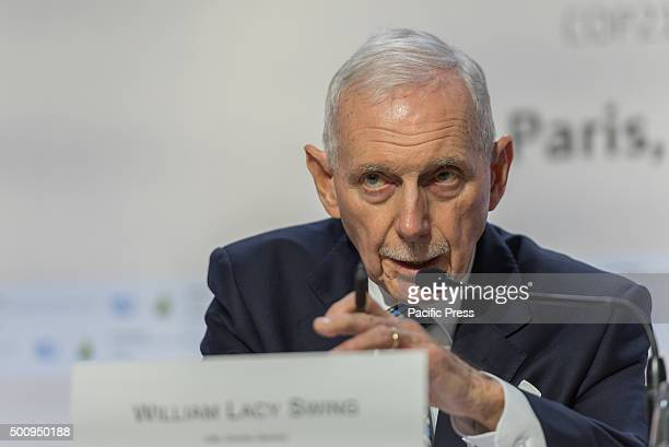 Director General of the International Organization for Migration William Lacy Swing gives key notes on the current climate refugees during the United...