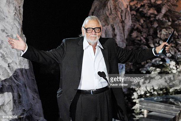 Director George A Romero accepts the Mastermind Award onstage during Spike TV's Scream 2009 held at the Greek Theatre on October 17 2009 in Los...