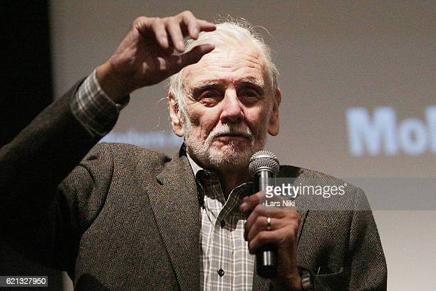 Director George A Romero addresses the audience at the Night of the Living Dead World Premiere of Restored Print during the To Save and Project The...