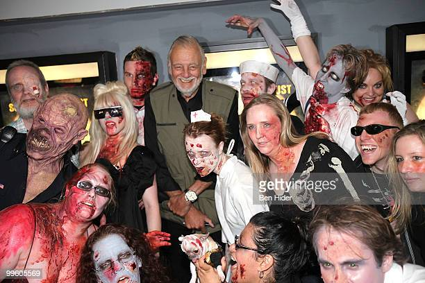 Director George A Romero and Zombies attend the premiere of 'Survival of the Dead' at Village East Cinema on May 16 2010 in New York City