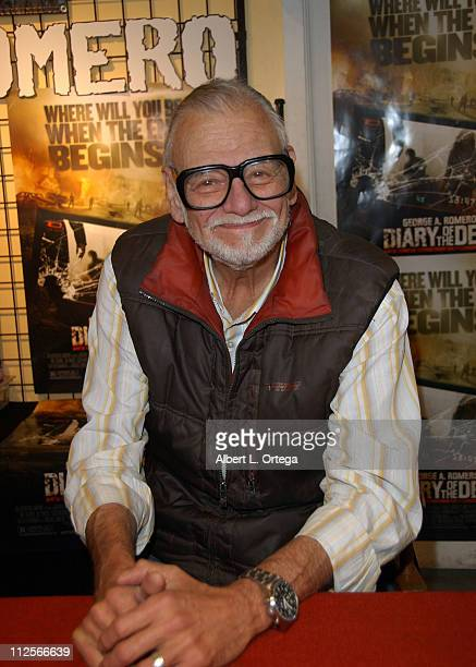 Director George A Romero instore appearance to promote his latest film 'Diary of the Dead' at Golden Apple Comics on February 9 2008 in Los Angeles...