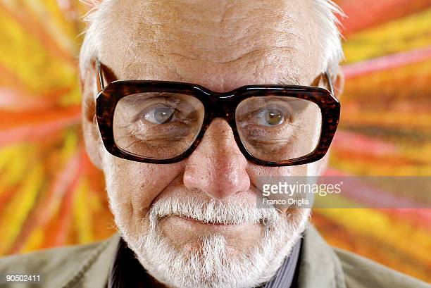 Director George A Romero of the film 'Survival of the Dead' poses for a portrait session on the Excelsior Terrace at the Excelsior Hotel during the...