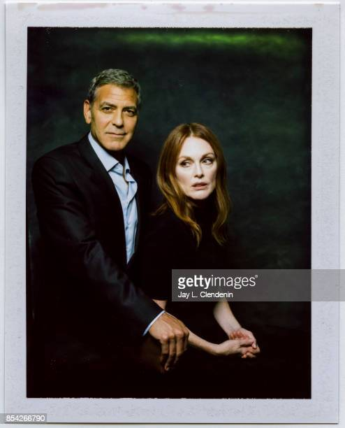 Director George Clooney and actress Julianne Moore from the film 'Suburbicon' is photographed on polaroid film at the LA Times HQ at the 42nd Toronto...