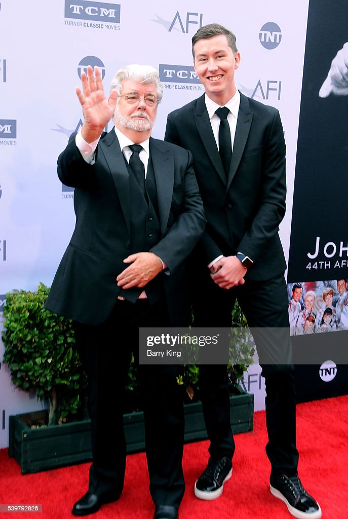 Director George Lucas and son Jett Lucas attend American Film Institute's 44th Life Achievement Award Gala Tribute to John Williams at Dolby Theatre on June 9, 2016 in Hollywood, California.
