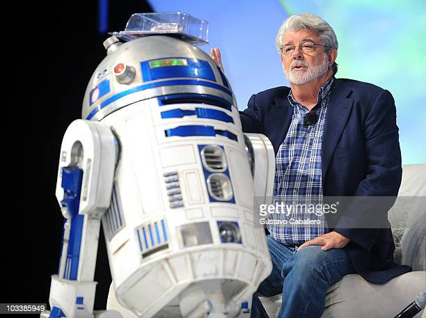 Director George Lucas attends Star Wars Celebration V at Orange County Convention Center on August 14 2010 in Orlando Florida