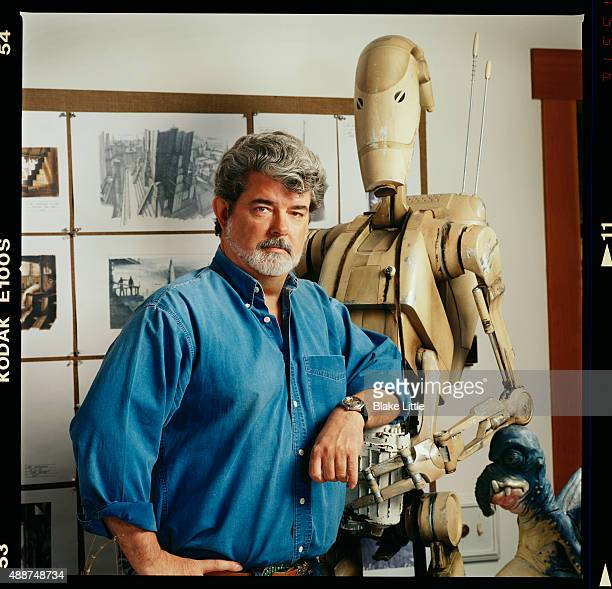 Director George Lucas photographed in 1998 for Self Assignment in Marin County California