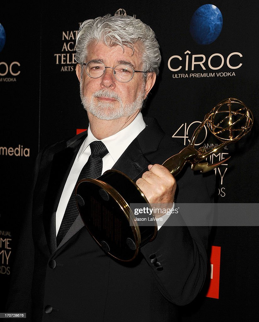 Director <a gi-track='captionPersonalityLinkClicked' href=/galleries/search?phrase=George+Lucas&family=editorial&specificpeople=202500 ng-click='$event.stopPropagation()'>George Lucas</a> poses in the press room at the 40th annual Daytime Emmy Awards at The Beverly Hilton Hotel on June 16, 2013 in Beverly Hills, California.