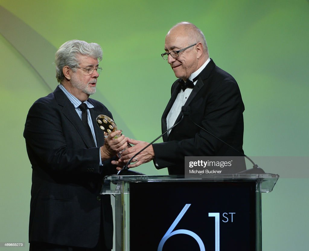 Director George Lucas presents the Career Acheivement Award to Sound Editor Randy Thom attends the 61st Motion Picture Sound Editors Golden Reel...