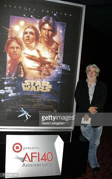 Director George Lucas presents the film 'Star Wars Episode IV A New Hope' at AFI's 40th Anniversary celebration presented by Target held at Arclight...
