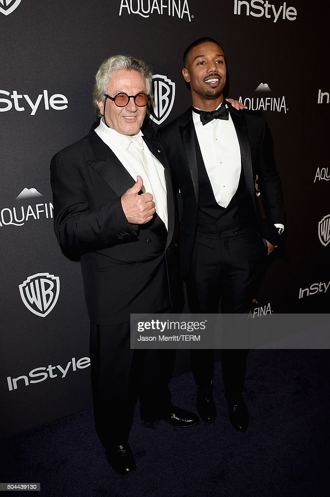 Director George Miller and actor Michael B Jordan attend The 2016 InStyle And Warner Bros 73rd Annual Golden Globe Awards PostParty at The Beverly...