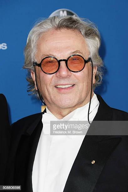 Director George Miller attends the 68th Annual Directors Guild Of America Awards at the Hyatt Regency Century Plaza on February 6 2016 in Los Angeles...