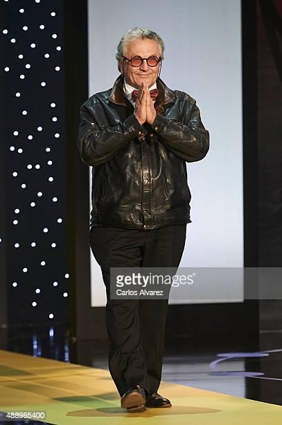 Director George Miller receives de Fipresci 2015 award during the opening ceremony of 63rd San Sebastian International Film Festival at the Kursaal...