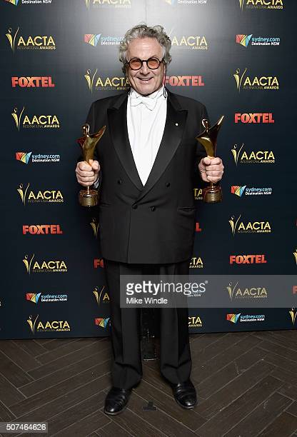 Director George Miller winner of Best Director and Best Film for 'Mad Max Fury Road' poses backstage during the 5th AACTA International Awards at...