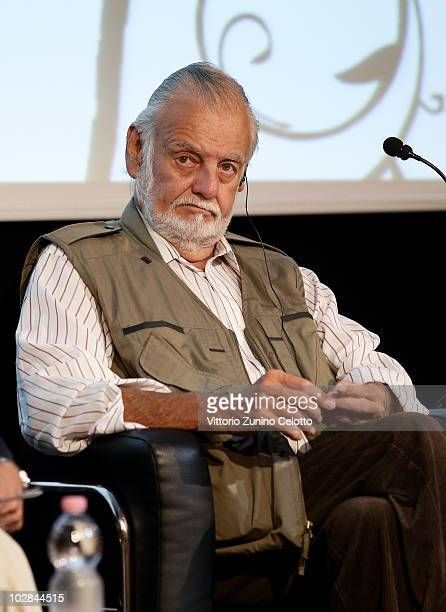 Director George Romero attends 'L'Aperitivo Con Gli Autori' held at Sala Buzzati on July 13 2010 in Milan Italy