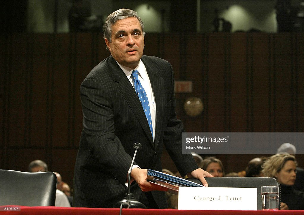 Director George Tenet prepares to testify before the bipartisan September 11 commission formally known as the National Commission on Terrorist...
