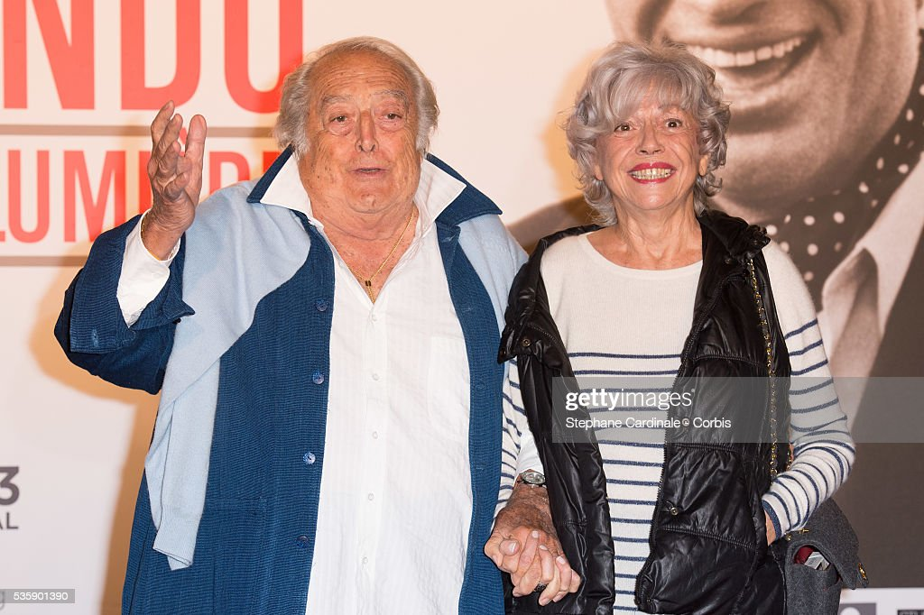 Director Georges Lautner and his Wife attend the Tribute to Jean Paul Belmondo and Opening Ceremony of the Fifth Lumiere Film Festival, in Lyon.