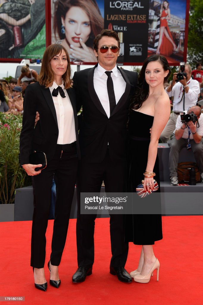 Director Gia Coppola and actors <a gi-track='captionPersonalityLinkClicked' href=/galleries/search?phrase=James+Franco&family=editorial&specificpeople=577480 ng-click='$event.stopPropagation()'>James Franco</a> and Claudia Levy attend the 'Palo Alto' Premiere during the 70th Venice International Film Festival at the Sala Grande on September 1, 2013 in Venice, Italy.
