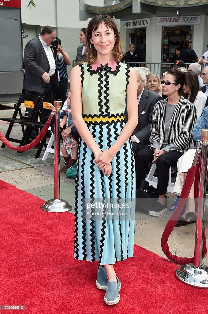 Director <a gi-track='captionPersonalityLinkClicked' href=/galleries/search?phrase=Gia+Coppola&family=editorial&specificpeople=3099216 ng-click='$event.stopPropagation()'>Gia Coppola</a> attends the Francis Ford Coppola Hand and Footprint Ceremony during the TCM Classic Film Festival 2016 on April 29, 2016 in Los Angeles, California. 25826_006