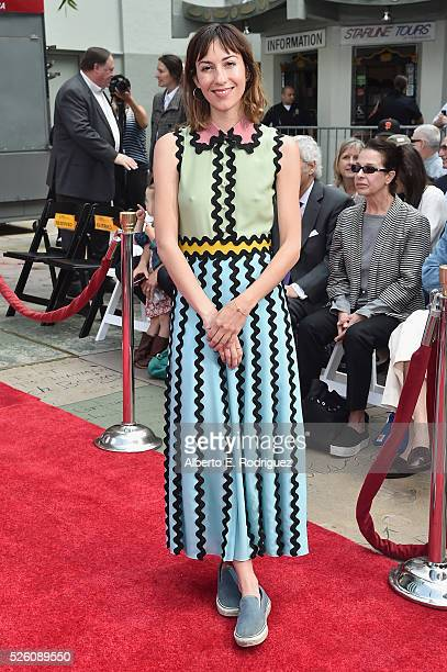 Director Gia Coppola attends the Francis Ford Coppola Hand and Footprint Ceremony during the TCM Classic Film Festival 2016 on April 29 2016 in Los...