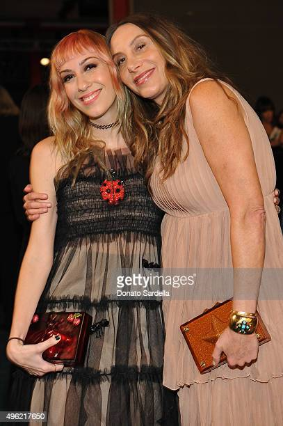 Director Gia Coppola wearing Gucci and actress Jacqui Getty wearing Gucci attend LACMA 2015 ArtFilm Gala Honoring James Turrell and Alejandro G...