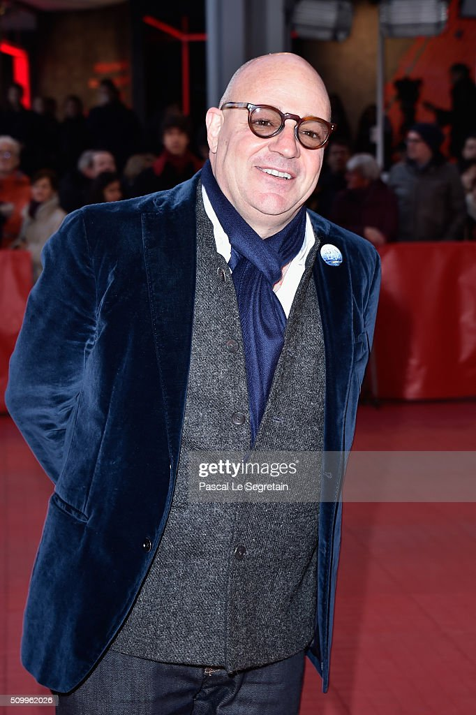 Director <a gi-track='captionPersonalityLinkClicked' href=/galleries/search?phrase=Gianfranco+Rosi+-+Film+Director&family=editorial&specificpeople=11450350 ng-click='$event.stopPropagation()'>Gianfranco Rosi</a> attends the 'Fire at Sea' (Fuocoammare) premiere during the 66th Berlinale International Film Festival Berlin at Berlinale Palace on February 13, 2016 in Berlin, Germany.