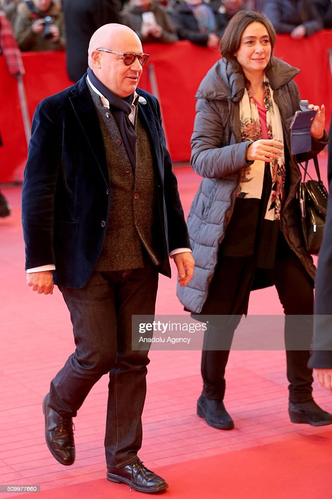 Director Gianfranco Rosi attends the 'Fire at Sea' (Fuocoammare) premiere during the 66th Berlinale International Film Festival Berlin at Berlinale Palace on February 13, 2016 in Berlin, Germany.