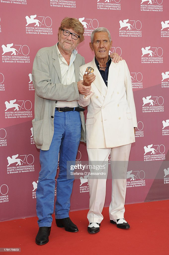 Director Gianni Bozzacchi and actor Enzo Staiola attend 'Non Eravamo Solo... Ladri di Biciclette. Il Neorealismo' Premiere during the 70th Venice International Film Festival at Sala Perla on September 1, 2013 in Venice, Italy.