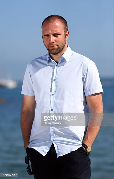 Director Giorgos Lanthimos attends the Dog Tooth Cast Portrait Session held at the Cast during the 62nd International Cannes Film Festival on May...