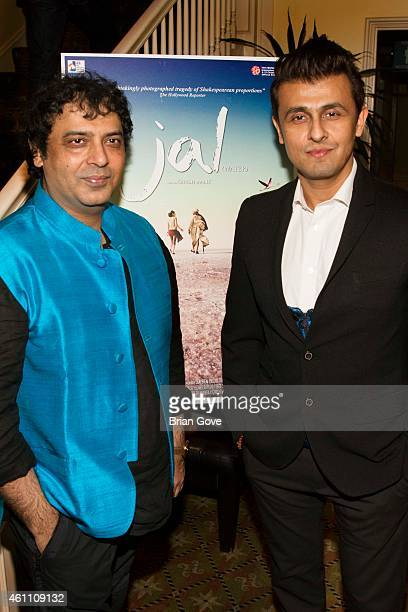 Director Girish Malik and Sonu Nigam attend the Los Angeles Premiere of 'JAL' at Raleigh Studios on January 6 2015 in Los Angeles California