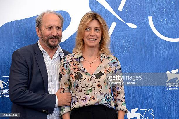 Director Giuseppe Piccioni and Margherita Buy attends a photocall for 'Questi Giorni' during the 73rd Venice Film Festival at Palazzo del Casino on...