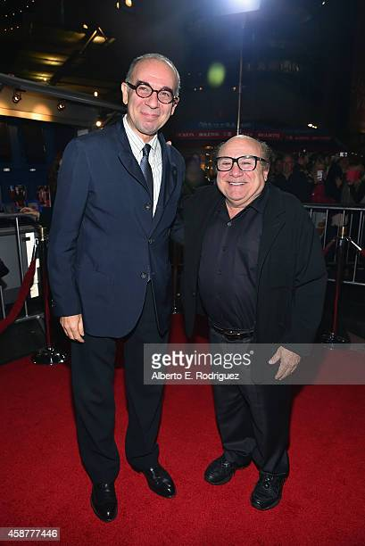 Director Giuseppe Tornatore and actor Danny DeVito attend the legacy screening of 'Cinema Paradiso' during the AFI FEST 2014 presented by Audi at...
