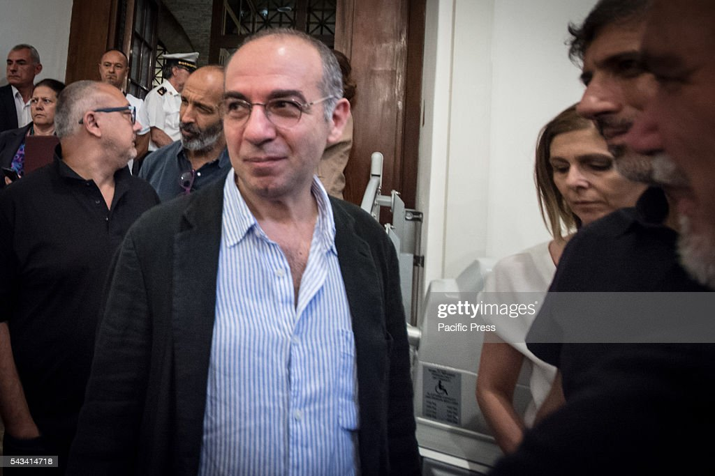 Director Giuseppe Tornatore during the funeral of Director Giuseppe Ferrara in Rome. Burning chamber on Capitol Hill for the director Giuseppe Ferrara, to take part in the Sala del Carroccio, also joined were the mayor of Rome Virginia Raggi, the director Giuseppe Tornatore and Don Luigi Ciotti of Libera.